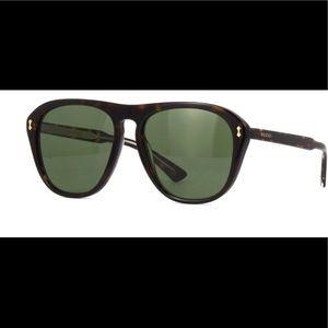Gucci GG0128S 001 Aviator Style Sunglasses NEW